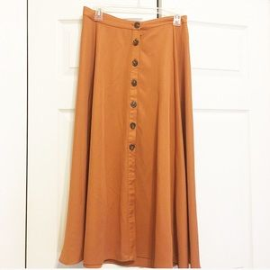 CHARLOTTE RUSSE Rustic orange hipster skirt